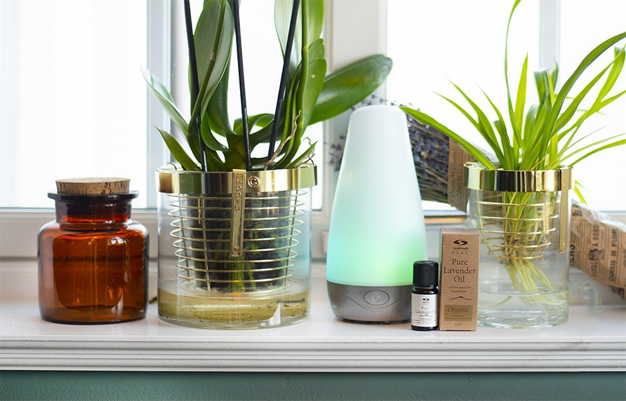 Diffuser with essential oil.