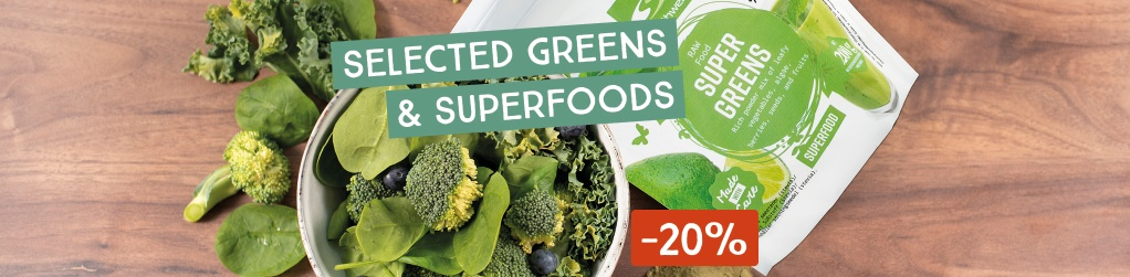 Healthy greens and superfoods